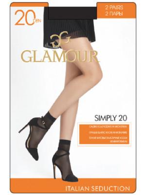 Носки GLAMOUR SIMPLY 20 lycra скидка