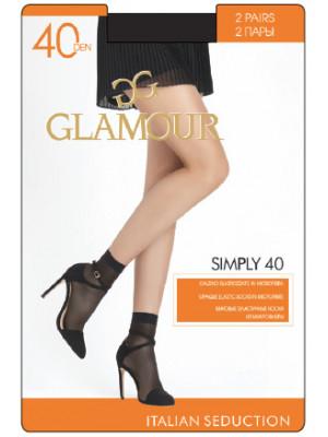 Носки GLAMOUR SIMPLY 40 lycra скидка