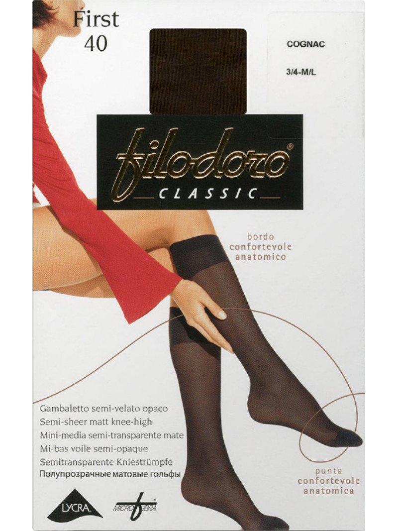 Гольфы FILODORO CLASSIC First 40 gambaletto скидка