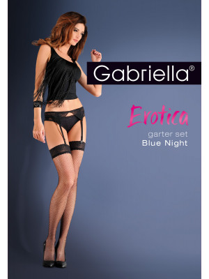 Чулки Gabriella Garter Set Blue Night