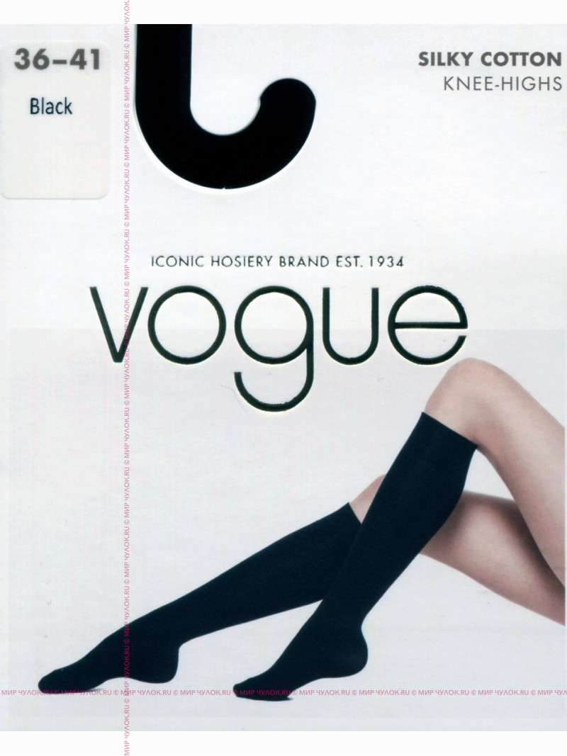 Гольфы VOGUE SILKY COTTON knee-highs
